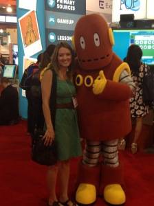 """Posing with my favorite """"educelebrity"""" Moby from Brainpop!"""